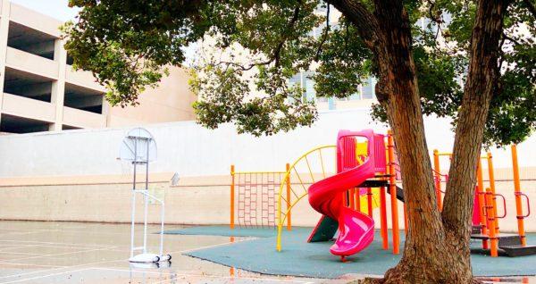 Rain on OCEAA playground