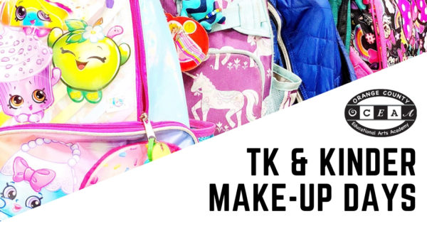 TK and Kinder Make-up Days