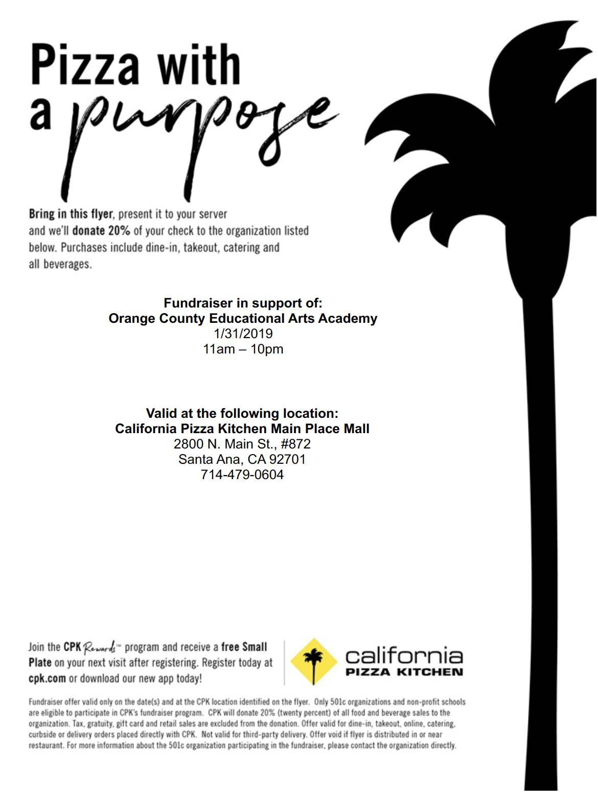 CPK Restaurant Fundraiser