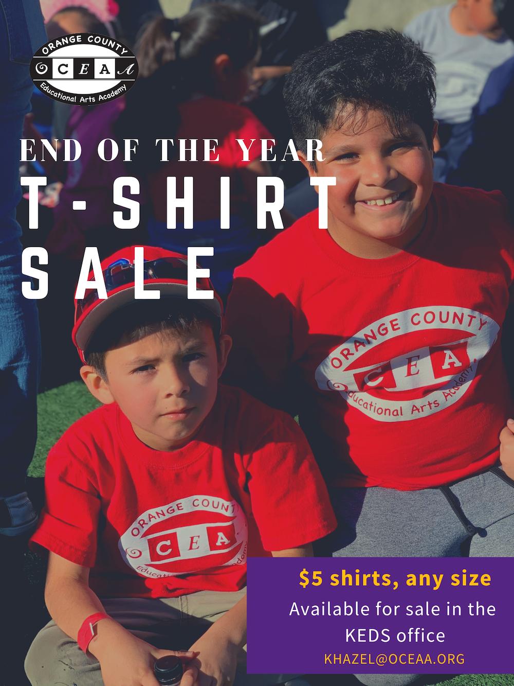 T-shirt sale - OCEAA.org