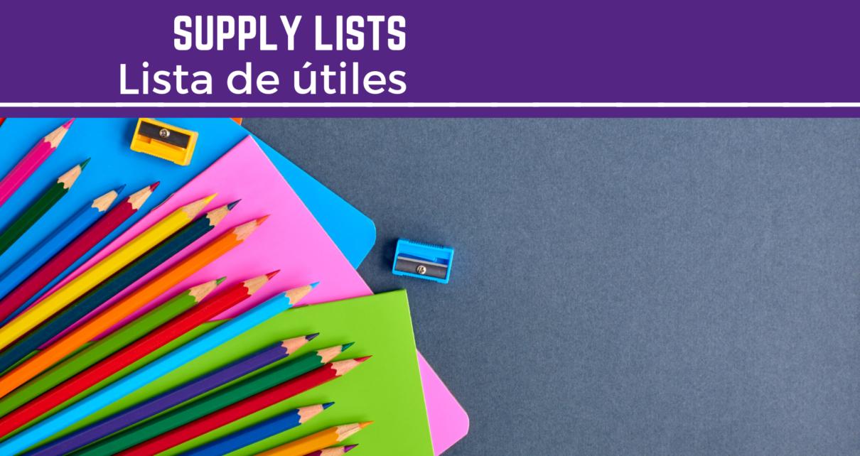 supply lists | Listas de útiles